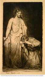 Christ and the Doubting Thomas, etching, 1882