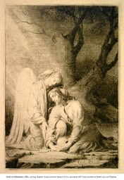 Christ in Gethsemane, etching, 1880