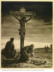 Christ on the Cross, etching, 1884