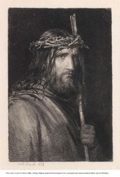 Christ with a Crown of Thorns, etching, 1882