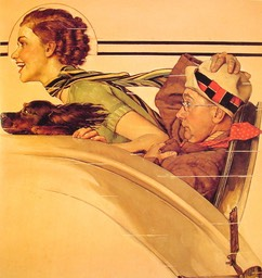 couple in rumble seat-large