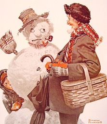 grandfather and snowman-large