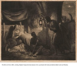 The Birth of Christ, etching, 1881