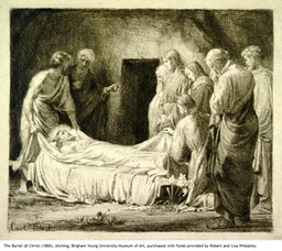 The Burial of Christ, etching, 1880