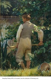 Young Boy Fishing, 1872